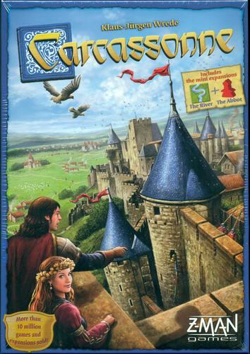 Brädspel Carcassonne Grundspel inkl Flod & Biskop Expansion (svenska)